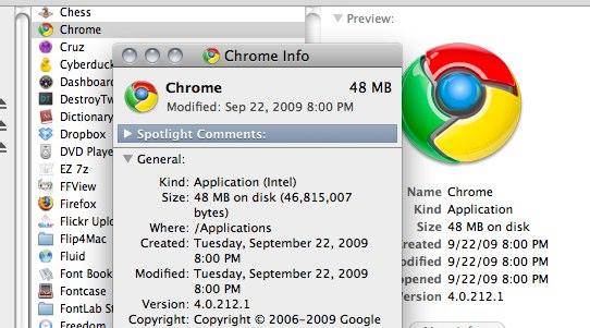 Chrome Info