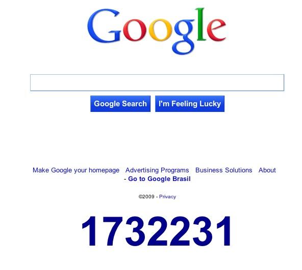 Secret Google countdown?