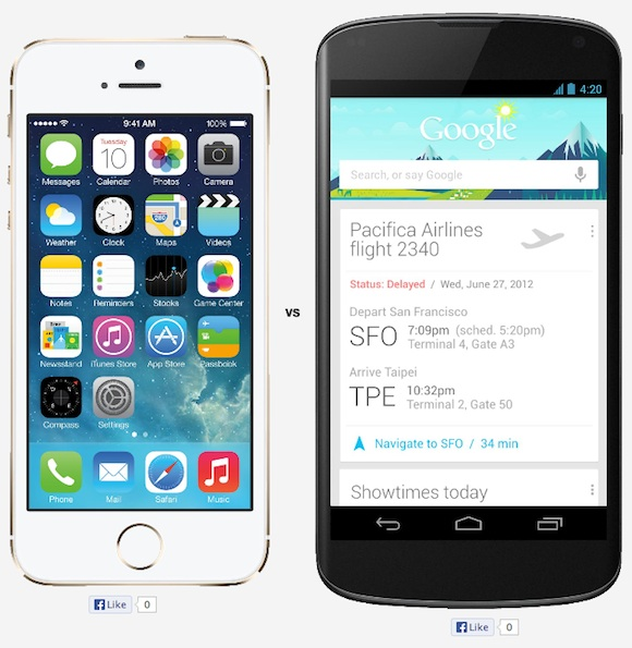 Comparing Apple iPhone 5S 16GB vs. Google Nexus 4 Specs - 16 Reasons for the Apple iPhone 5S 16GB - VERSUS