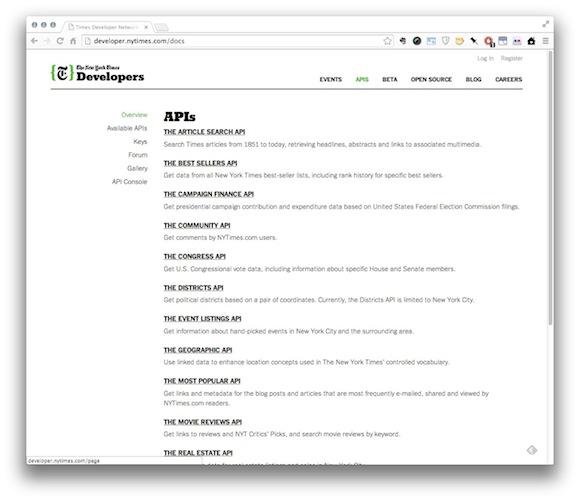 NYTimes API