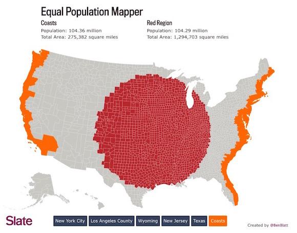Mapeando a Densidade da Populacao Americana
