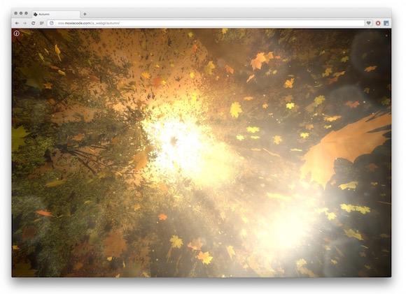 O Outono no seu Browser