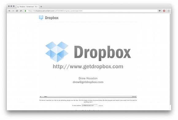 Dropbox em 2008