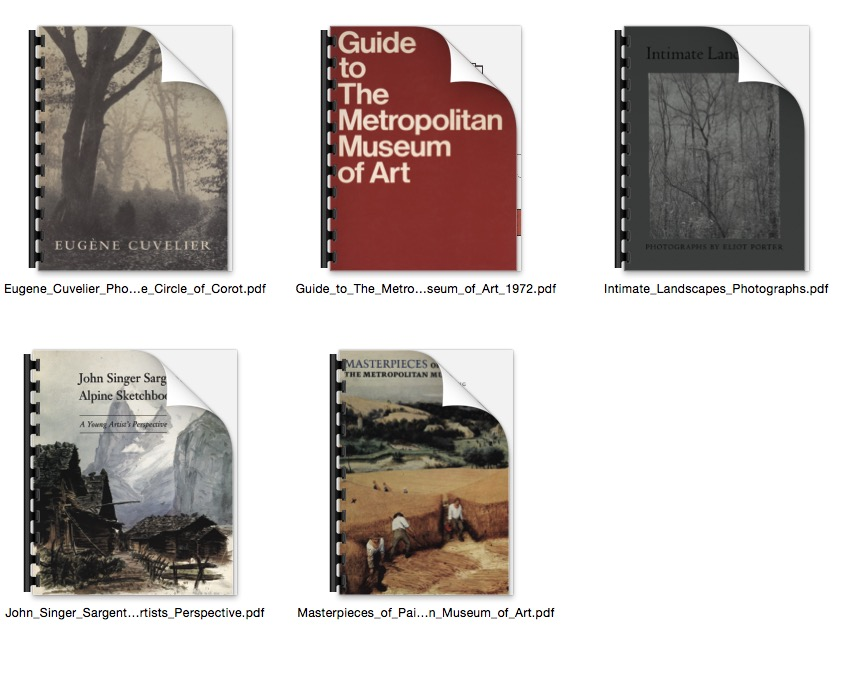 Free Books from The Metropolitan Museum of Art
