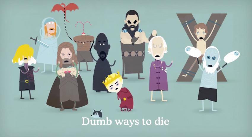 Game of Thrones e sua versão de Dumb Ways to Die