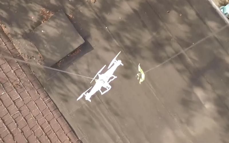 Usando um Drone para Resgatar outro Drone