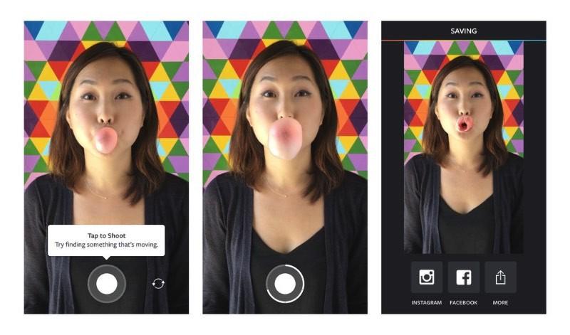 O pessoal do Instagram não quer que você saia do aplicativo e andam sendo criativos quando se trata de encontrar novas maneiras de fazer você usar o serviço deles. Foi assim que surgiu o Boomerang, um aplicativo bem simples onde você pode fotografar uma sequência de fotos e inserir todas elas em um curto vídeo que toca em loop e sem som. Simples e direto.