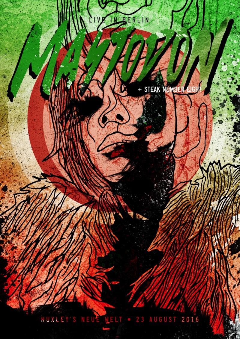 Um Poster para o show do Mastodon em Berlim em Agosto de 2016