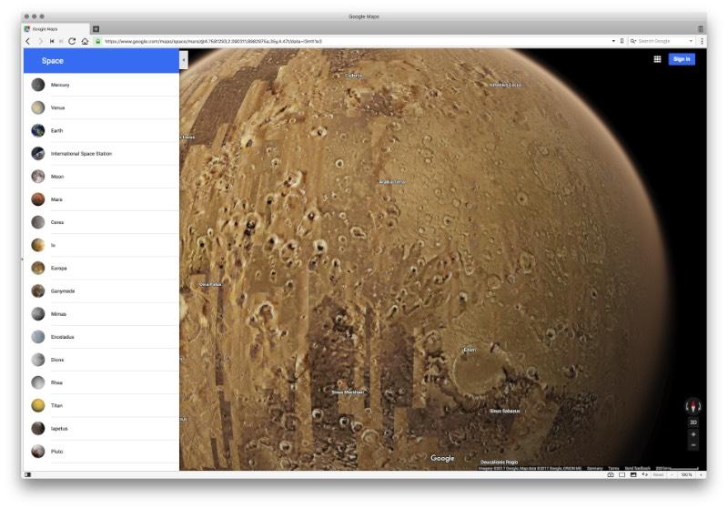 Um Google Maps Espacial para quem quer explorar mais de uma dúzia de planetas